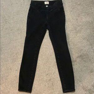 J. Crew denim pull on black skinny jeans